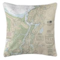MA: Annisquam, Annisquam River, MA Nautical Chart Pillow
