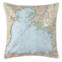 MI: Lake St Clair, MI Nautical Chart Pillow