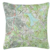 MA: North Andover, MA Topo Map Pillow
