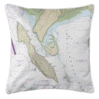 WA: Lummi Island, WA Nautical Chart Pillow