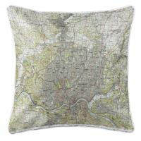 OH: Cincinnati, OH (1986) Topo Map Pillow