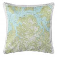 TN-KY: Dale Hollow Reservoir, TN-KY SE (1968) Topo Map Pillow