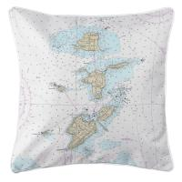 OH: Bass Islands, OH Nautical Chart Pillow