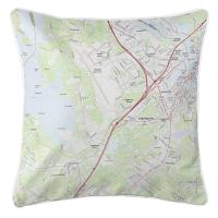 NH: Portsmouth, NH (2018) Topo Map Pillow