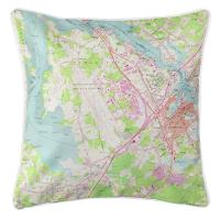 NH: Portsmouth, NH (1956) Topo Map Pillow