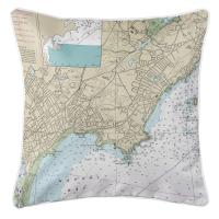 MA: Swampscott, MA Nautical Chart Pillow