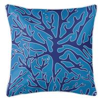 Sea Coral Pillow - Navy, Light Blue