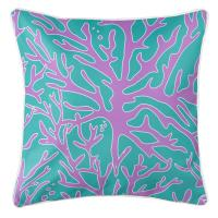 Sea Coral Pillow - Purple, Turquoise