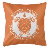 BHI, NC Sea Turtle Pillow - Orange