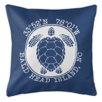 BHI, NC Sea Turtle Pillow - Navy
