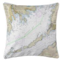 MA: Buzzards Bay, MA II Nautical Chart Pillow