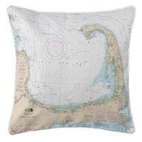 MA: Cape Cod, MA Nautical Chart Pillow