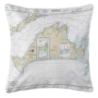 MA: Martha's Vineyard, MA Nautical Chart Pillow