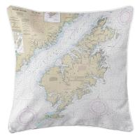 AK: Kodiak Island, AK Nautical Chart Pillow