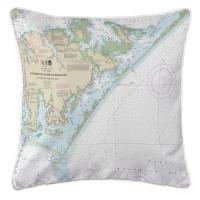 NC: Portsmouth Island to Beaufort, NC Nautical Chart Pillow