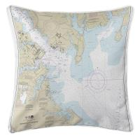 MD: Annapolis Harbor, MD Nautical Chart Pillow