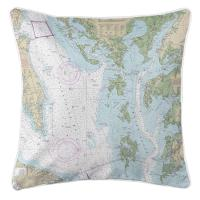 MD-VA: Chesapeake Bay, MD-VA Nautical Chart Pillow