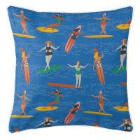Surfer Girl - Surf Party Pillow