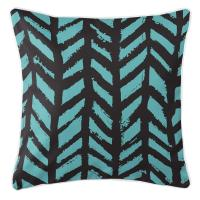 Grand Bahama - Drifter Black & Aqua Pillow