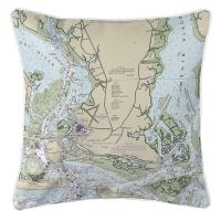 NC: Beaufort, NC Nautical Chart Pillow