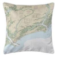 SC: Kiawah Island, SC Nautical Chart Pillow