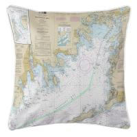 MA: Buzzards Bay, MA Nautical Chart Pillow