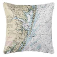 MD: Ocean City, MD Nautical Chart Pillow