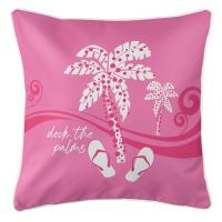 Deck the Palms Pillow - Pink