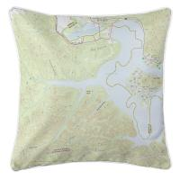 KY: Cave Run Lake, KY Topo Map Pillow