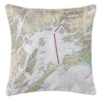 AK: Prince William Sound, AK Nautical Chart Pillow