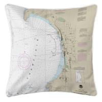 VT: Burlington, VT Nautical Chart Pillow