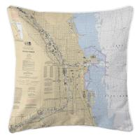 IL: Chicago Harbor, IL Nautical Chart Pillow