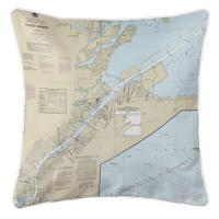 OH: Toledo Harbor, OH Nautical Chart Pillow