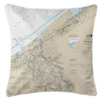 OH: Cleveland, OH Nautical Chart Pillow