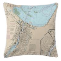 WI: Green Bay, WI Nautical Chart Pillow