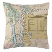 NC: Wilmington, NC Nautical Chart Pillow