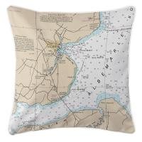 NC: Edenton, NC Nautical Chart Pillow
