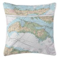 NC: Roanoke Island, NC Nautical Chart Pillow