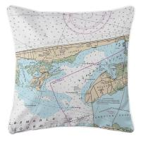 NC: Kill Devil Hills, Nags Head, NC Nautical Chart Pillow