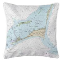 NC: Cape Hatteras, NC Nautical Chart Pillow