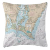 RI: Point Judith Harbor, RI Nautical Chart Pillow