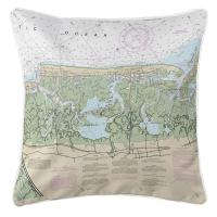 NJ: Stone Harbor, NJ Nautical Chart Pillow