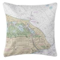 NJ: Cape May, NJ Nautical Chart Pillow