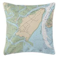 SC: Daufuskie Island, SC Nautical Chart Pillow