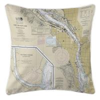 OR: Portland South, OR Nautical Chart Pillow