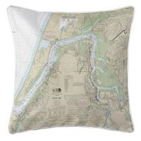 OR: Coos Bay, OR Nautical Chart Pillow