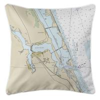 FL: Jensen Beach, Stuart, FL Nautical Chart Pillow