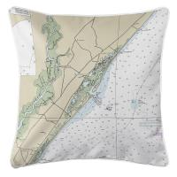 SC: Murrells Inlet, SC Nautical Chart Pillow
