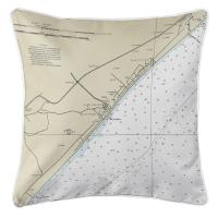 SC: Myrtle Beach, SC Nautical Chart Pillow