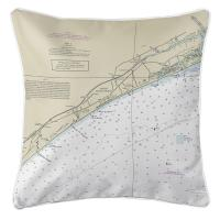 SC: North Myrtle Beach, SC Nautical Chart Pillow